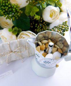 caffettiera collezione alhambra con sacchettino juta con cordoncino brandani
