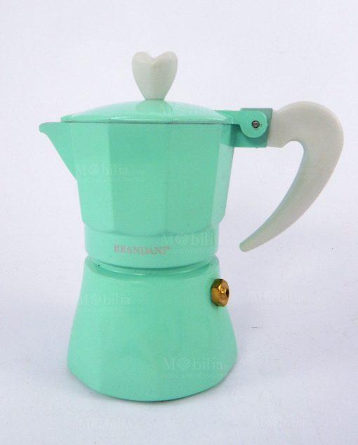 caffettiera una tazza colore tiffany love me express brandani