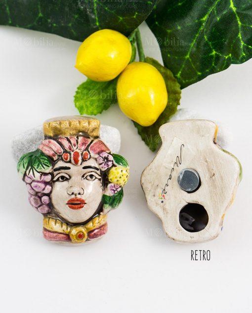 calamita coppia testa di moro ceramica uomo e donna