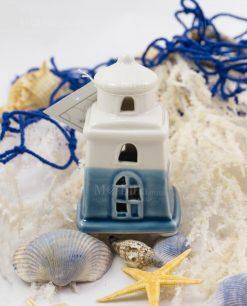 faro piccolo led porcellana bicolore blu e bianco linea oceano ad emozioni 1