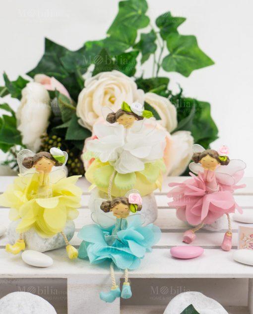 fatine su fiore con sacchetto linea trilly ad emozioni