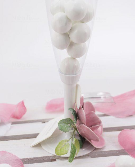 flute con confetti dettaglio fiore rosa porcellana con confetti linea blush rdm design