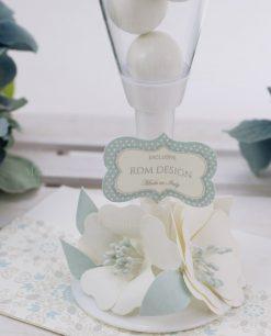 flute portaconfetti con fiori carta linea sweet memory rdm design