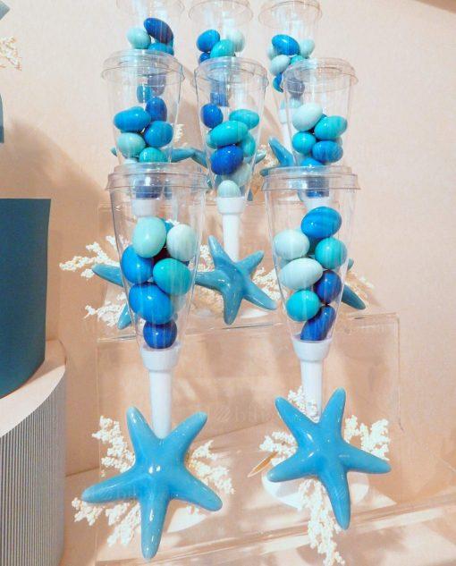 flute portaconfetti con setlla marina porcellana linea oceania rdm design