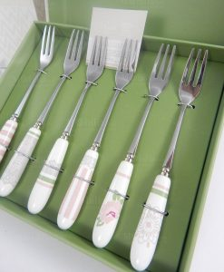 forchettina set 6 pezzi linea peonia brandani
