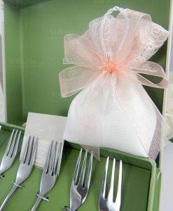 frochettina set 6 pezzi con sacchetto confezionato linea peonia brandani