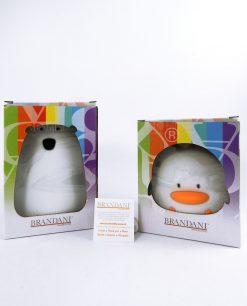 lampada duck e lampada orsetto con scatola brandani