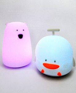 lampada duck lampada orsetto touch luci lilla e blu brandani