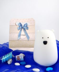lampada orsetto touch con confetti e bag brandani