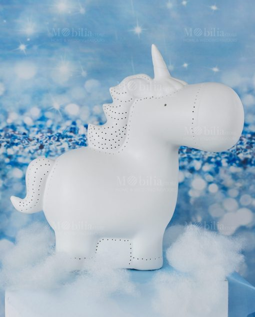 lampada unicorno porcellana linea luce ad emozioni