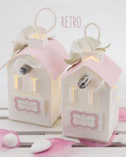 lanterna led cartoncino due modelli retro linea blush rdm design