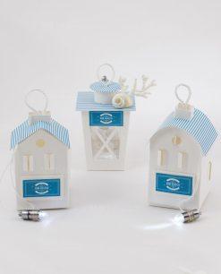 lanterne led cartoncino bianco e blu linea oceano rdm design