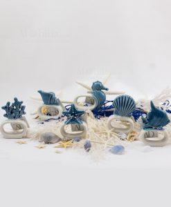 legatovagliolo sei modelli assortiti soggetti marini linea oceano ad emozioni