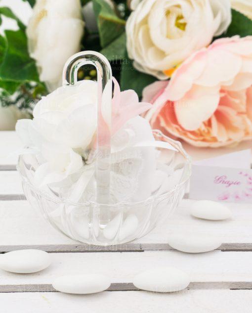 ombrellino grande vetro trasparente con sacchetto ad emozioni
