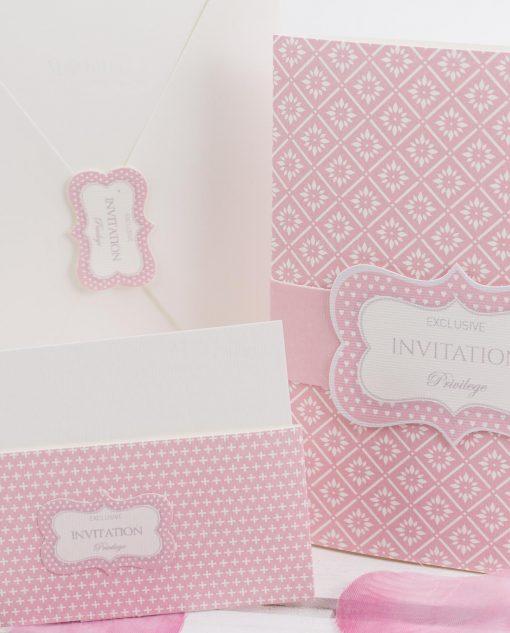 partecipazione nozze cartoncino con busta linea blush rdm design