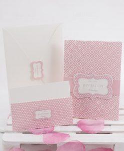 partecipazione nozze rosa e bianco linea blush rdm design