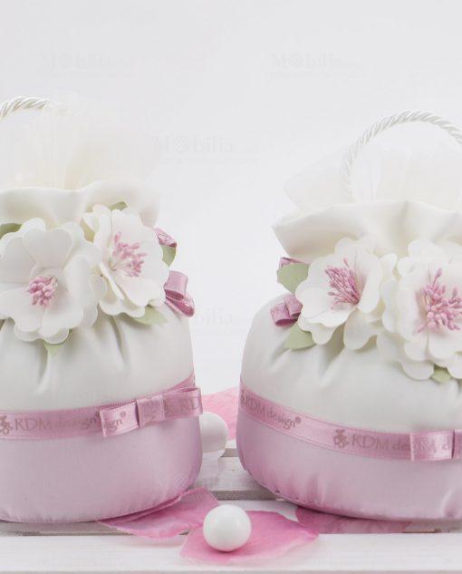 pochette con fiori due misure linea blush rdm design
