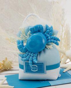 pochette con granchio blu ceramica capodimonte linea oceania rdm design