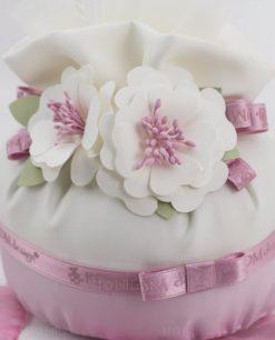 pochette piccola con fiori e nastri linea blush rdm design