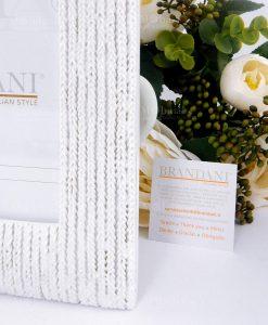 portafoto intrecciato bianco con garanzia brandani