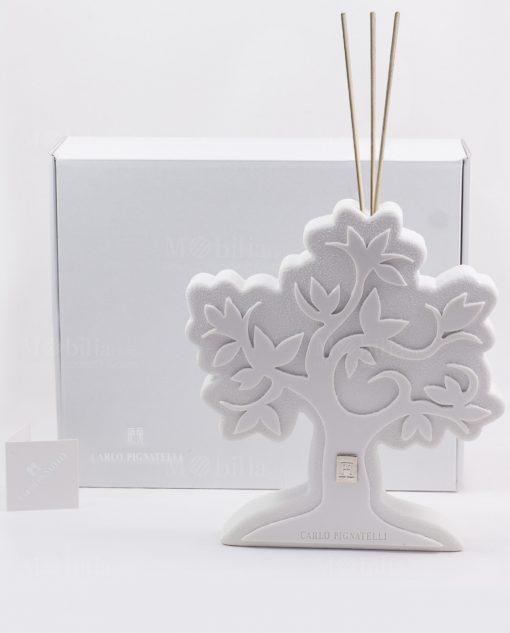 profumatore albero della vita gres bianco grande pignatelli linea eden con scatola