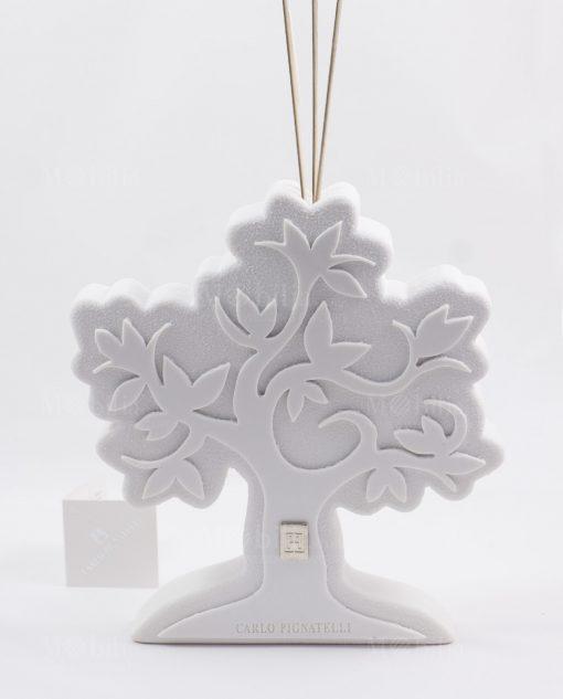 profumatore ambiente albero della vita gres bianco pignatelli linea eden