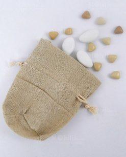 sacchettino portaconfetti coton juta con tirante