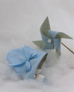 sacchetto e girandola azzurra baby balloon ad emozioni