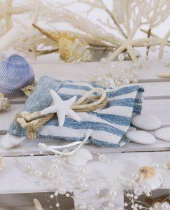 sacchetto portaconfetti con stella marina linea stella