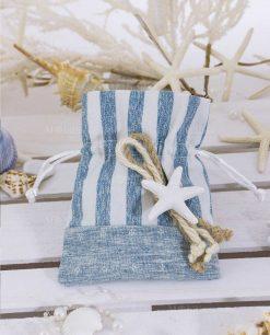 sacchetto portaconfetti cotone con stella marina