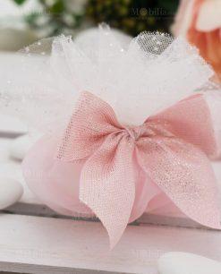 sacchetto rosa con fiocco linea princess ad emozioni