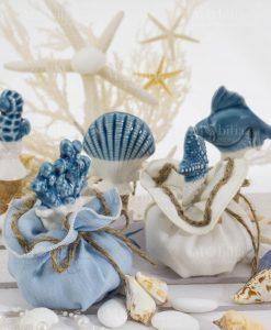 tappi ceramica bicolore con sacchetto vari colori linea oceano ad emozioni