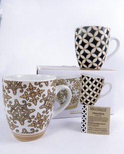 tazza mug due modelli assortiti collezione alhambra brandani