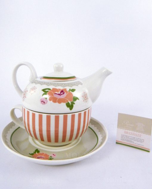 teiera con tazza collezione peonia brandani