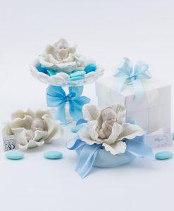 Bomboniera bimbo su fiore linea baby flower ad emozioni
