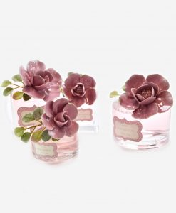 bagnoschiuma con fiore rosa linea blush rdm design