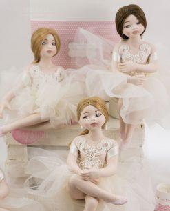 ballerine porcellana capodimonte con tutù con ricamo rdm design linea prima ballerina