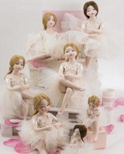 ballerine porcellana capodimonte con tutù linea prima ballerina rdm design