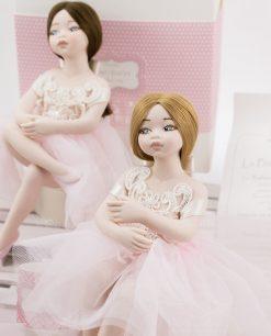 bambolina grande bionda e bambolina grande mora linea prima ballerina rdm design