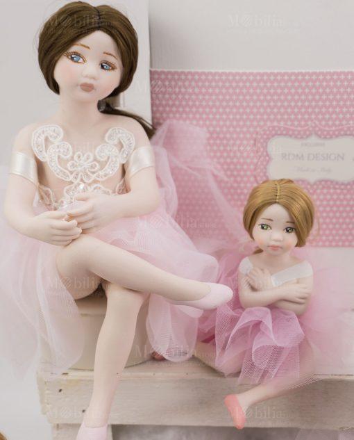 bambolina grande mora bambolina piccola bionda porcellana capodimonte linea prima ballerina rdm design