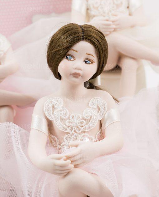bambolina grande mora occhi azzurri linea prima ballerina rdm design
