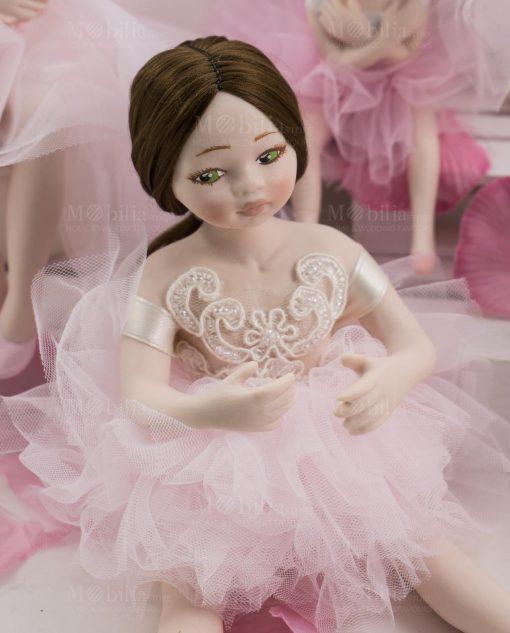 bambolina grande mora occhi verdi porcellana capodimonte linea prima ballerina rdm design