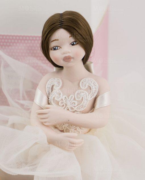 bambolina mora grande porcellana capodimonte linea prima ballerina rdm design