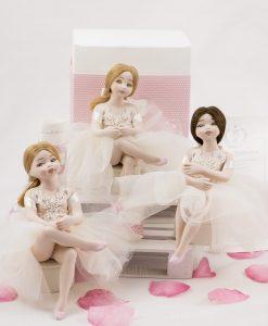 bamboline grandi con tutù con ricamo porcellana capodimonte linea prima ballerina rdm design