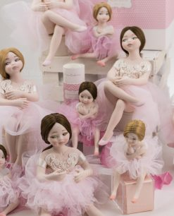 bamboline grandi e piccole porcellana capodimonte linea prima ballerina rdm design