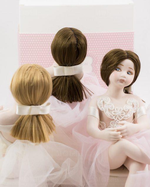 bamboline grandi retro capelli legato con fiocco linea prima ballerina rdm design