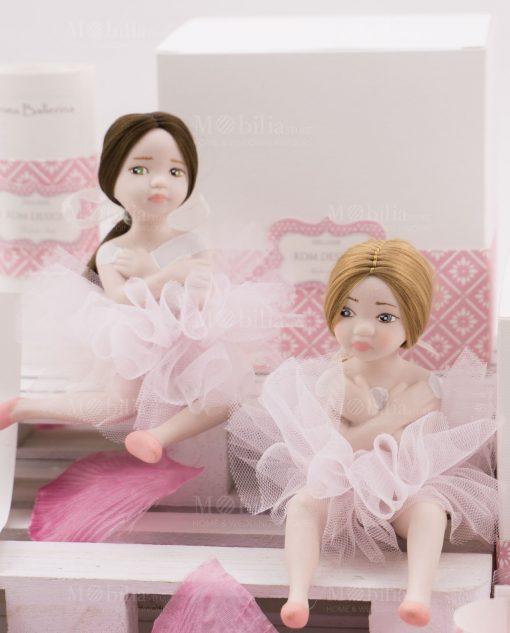 bamboline piccole bionda occhi azzurri e mora occhi verdi linea prima ballerina rdm design