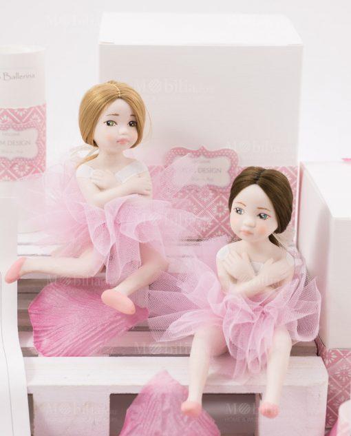 bamboline piccole bionda occhi verdi e mora occhi azzurri linea prima ballerina rdm design