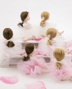 bamboline piccole con capelli legati retro linea prima ballerina rdm design