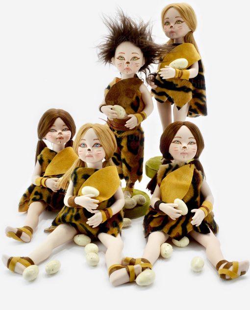 bamboline porcellana capodimonte linea gli antenati rdm design
